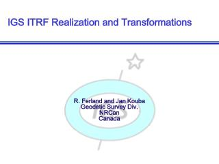 IGS ITRF Realization and Transformations