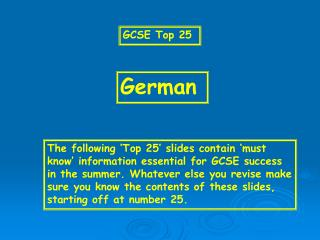 GCSE Top 25