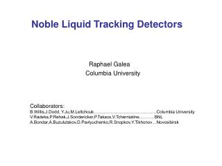 Noble Liquid Tracking Detectors