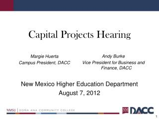Capital Projects Hearing