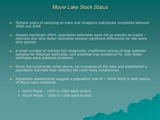 Moyie Lake Stock Status