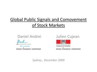 Global Public  Signals  and  Comovement  of Stock  Markets