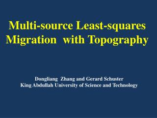 Multi-source Least-squares Migration   with  Topography