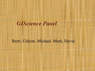 GIScience Panel