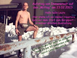 """Aufstieg von Immenstadt auf den """"Mittag"""" am 23.02.2003"""