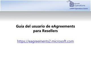Guía  del  usuario  de eAgreements  para  Resellers