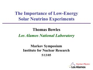 The Importance of Low-Energy Solar Neutrino Experiments