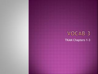 Vocab  3
