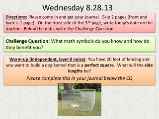Wednesday 8.28.13