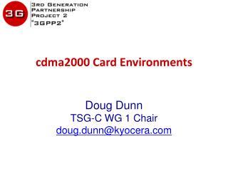 cdma2000  Card Environments