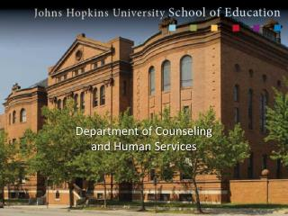 Department of Counseling and Human Services