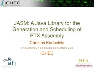 JASM: A Java Library for the Generation and Scheduling of PTX Assembly