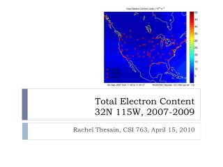 Total Electron Content 32N 115W, 2007-2009