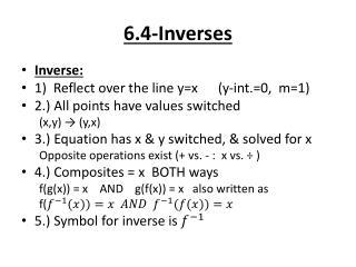 6.4-Inverses