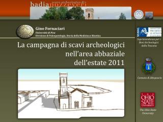 La campagna di scavi archeologici nell'area abbaziale  dell'estate 2011