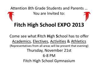 HS Expo 2013 invite
