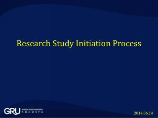 Research Study Initiation  Process