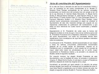 Acta de constitución del Ayuntamiento