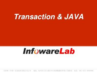 Transaction & JAVA
