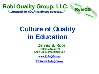 Culture of Quality  in  Education