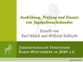 Jagdkynologische Vereinigung Baden-W�rttemberg im JGHV e.V.