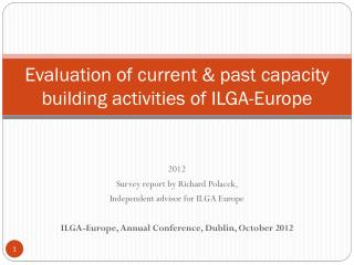 Evaluation of current & past capacity building activities of ILGA-Europe