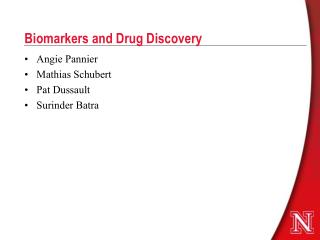 Biomarkers and Drug Discovery