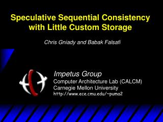 Speculative Sequential Consistency with Little Custom Storage