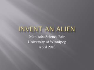 Invent an ALIEN