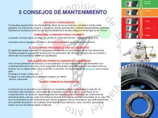 5 CONSEJOS DE MANTENIMIENTO