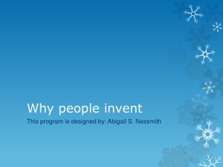 Why people invent
