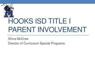 Hooks ISD Title I Parent Involvement