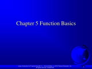 Chapter 5 Function Basics