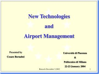 New Technologies  and  Airport Management