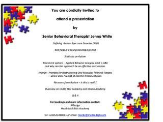 Ghana Presentation Invite
