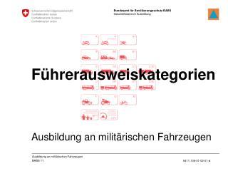 Ausbildung an milit�rischen Fahrzeugen