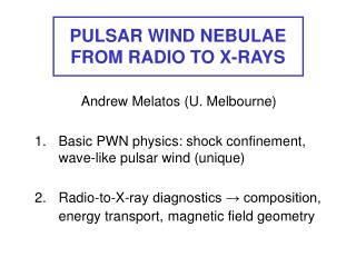 PULSAR WIND NEBULAE FROM RADIO TO X-RAYS