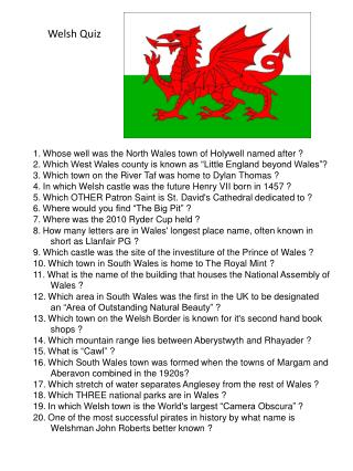 Welsh Quiz