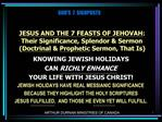JESUS AND THE 7 FEASTS OF JEHOVAH:  Their Significance, Splendor  Sermon Doctrinal  Prophetic Sermon, That Is