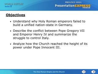 Understand why Holy Roman emperors failed to build a unified nation-state in Germany.