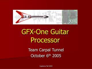 GFX-One Guitar Processor
