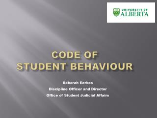 CODE OF  STUDENT BEHAVIOUR