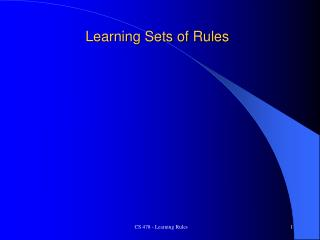 Learning Sets of Rules