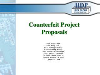 Counterfeit Project Proposals