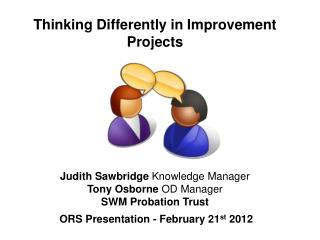 ORS Presentation - February 21 st  2012