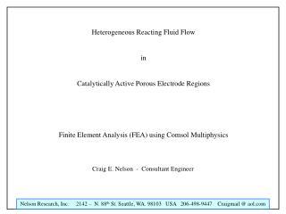 Heterogeneous Reacting Fluid Flow in Catalytically Active Porous Electrode Regions