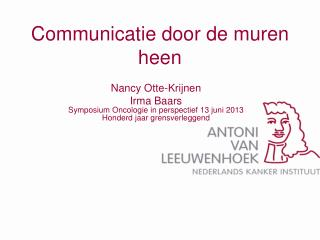 Communicatie door de muren heen