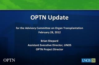 OPTN Update