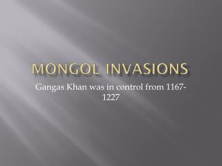 Mongol Invasions
