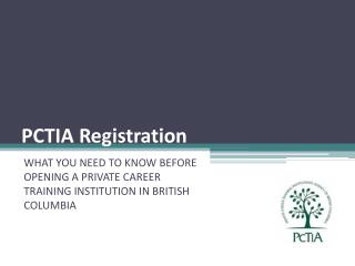 PCTIA Registration